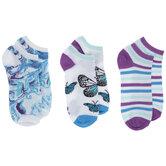 Blue & Purple Low Cut Socks