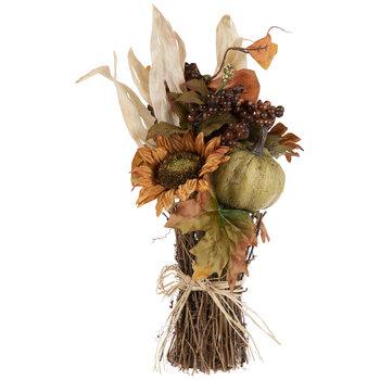 Sunflower, Pumpkin & Raffia Bouquet