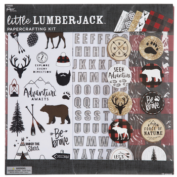 Little Lumberjack Paper Crafting Kit