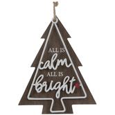 Calm & Bright Tree Wood Wreath Embellishment
