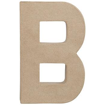 """Paper Mache Letter B - 8 1/4"""""""
