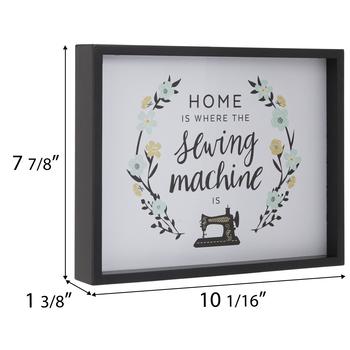 Home Sewing Machine Wood Wall Decor