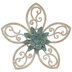 Teal Layered Flower Wood Wall Decor