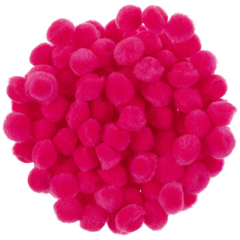 "Hot Pink Pom Poms - 1/4"""