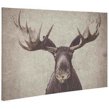 Moose Parchment Canvas Wall Decor