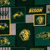 North Dakota State Block Fleece Fabric