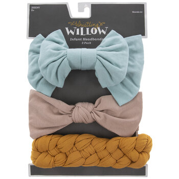 Teal Bow & Braided Infant Headbands