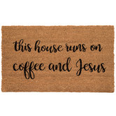 Coffee & Jesus Doormat
