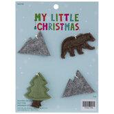 Mini Mountain, Bear & Tree Ornaments