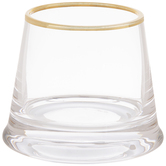 Tapered Glass Candle Holder