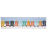 Beach Chairs Canvas Wall Decor