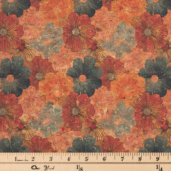 Floral & Gold Cork Fabric