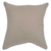 Beige With White Trim Pillow