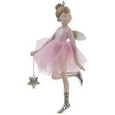 Pink Star Ballerina Ornament