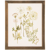 Vintage Floral Wood Wall Decor