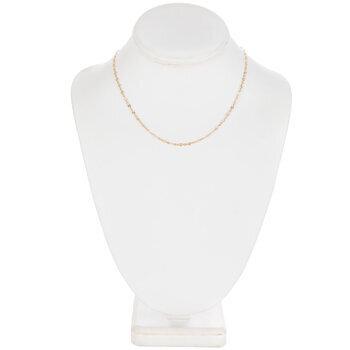 "Delicate Starburst Chain Necklace - 16"""
