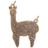 Floral Llama Pendant