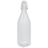 Square Glass Bottle - 33 Ounce