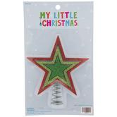 Dark Green Glitter Star Mini Tree Topper