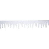 White & Silver Glitter Icicle Felt Banner