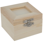 Square Wood Box With Frame Top
