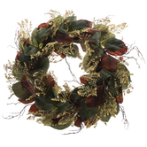 Fall Magnolia Leaf Wreath