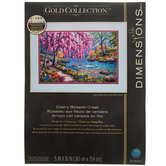 Cherry Blossom Creek Counted Cross Stitch Kit