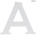 White Wood Letter A - 4 1/2
