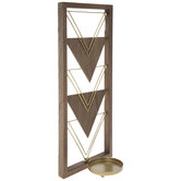 Gold Triangle Wood Wall Sconce