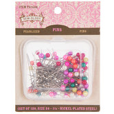 Long Pearlized Pins - Size 24