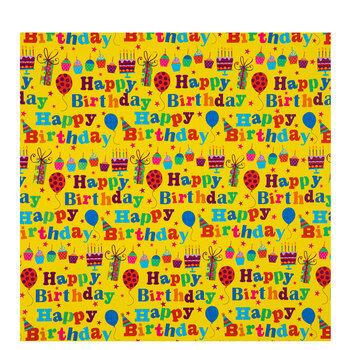 Yellow Happy Birthday Gift Wrap
