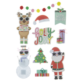 Sunglasses Christmas Buddies 3D Stickers