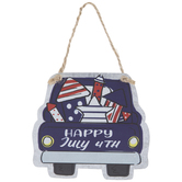 Happy 4th Of July Truck Ornament