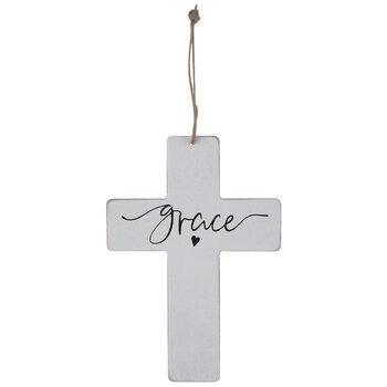 Grace Wood Wall Cross
