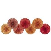 Red & Orange Paper Fans