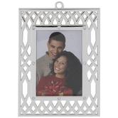 Silver Arabesque Frame Ornament