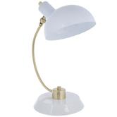 White & Gold Metal Lamp