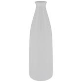 White Tapered Neck Vase