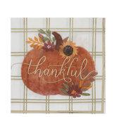 Thankful Pumpkin Foil Napkins - Large