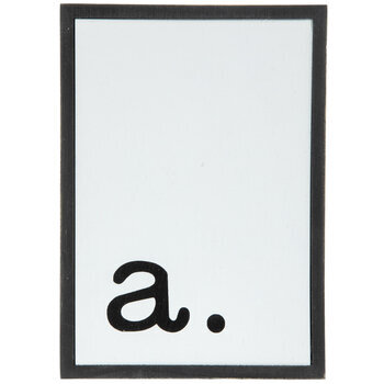 Lowercase Letter Wood Wall Decor - A