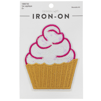Cupcake Sequin Iron-On Applique