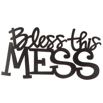 Bless This Mess Metal Wall Decor
