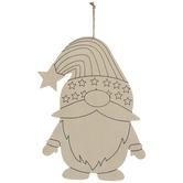 Stars & Stripes Gnome Wood Shape