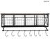 Wall Shelf With Metal Baskets & Hooks