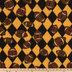 Black & Bright Gold Football Fleece Fabric