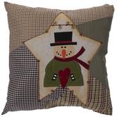 Plaid Snowman Pillow