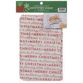 Merry Christmas Parchment Paper Sheets