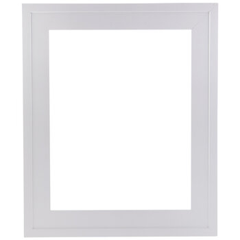 White Stepped Wood Open Frame