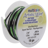Black & Green Artistic Wire - 18 Gauge