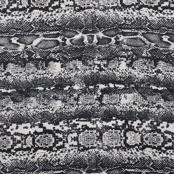 White & Black Python Crepe Scuba Knit Fabric